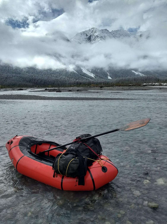 Alpacka Packraft on Howse River, Banff National Park