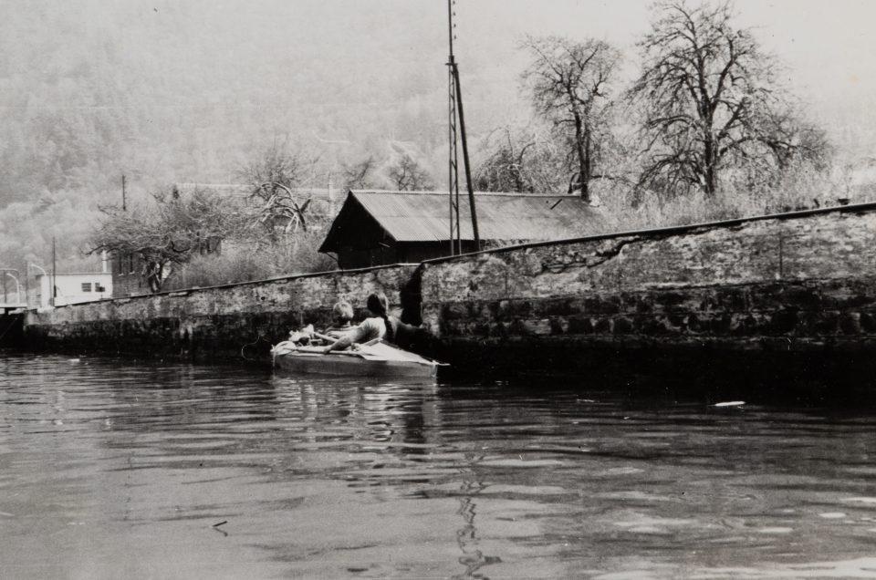 Klepper kayak on the river Meuse
