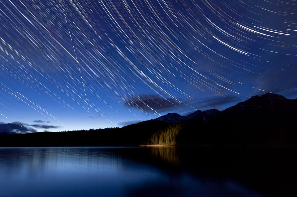 International Space Station over patricia Lake Jasper-Jasper National Park-Patricia Lake