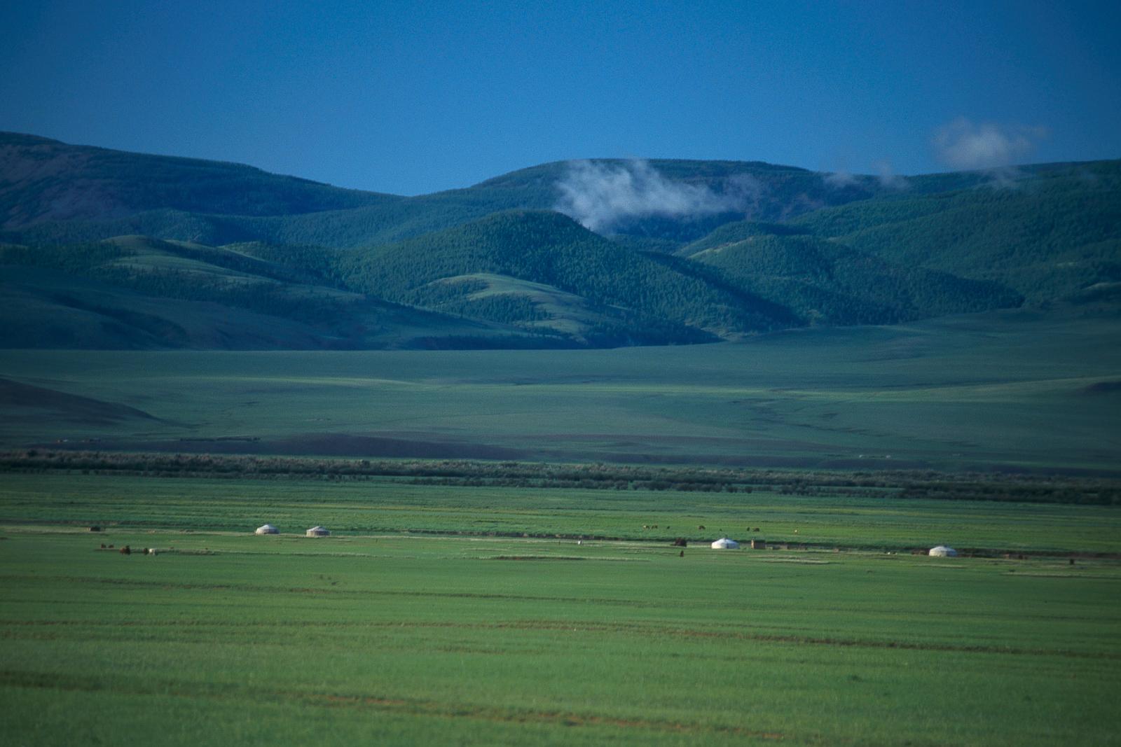 Gers in Arkhangai Mongolia
